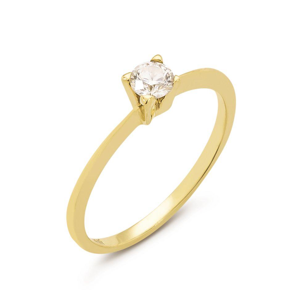 53ef20a33425b Anel em Ouro e Diamante 33 pontos - BIGBEN