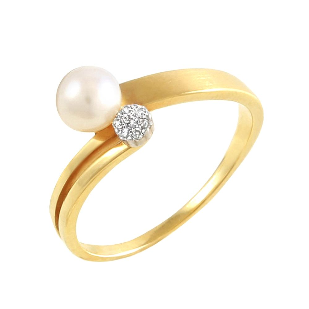 bd5be1896 Anel em Ouro, Diamante e Pérola - BIGBEN