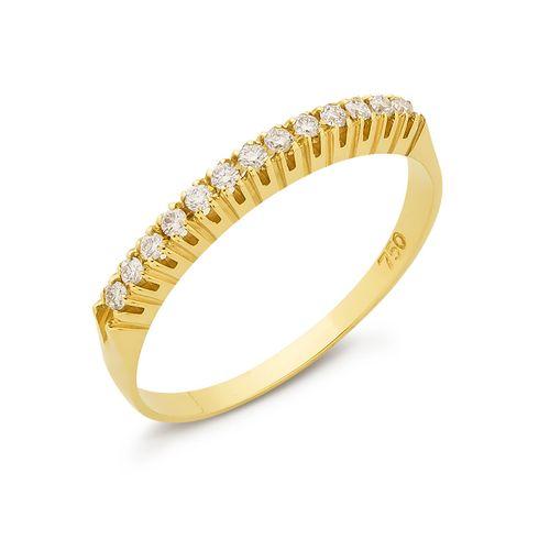 c52c1b5e64d3b Meia Aliança Brilhante em Ouro e Diamantes 13 pontos - BIGBEN