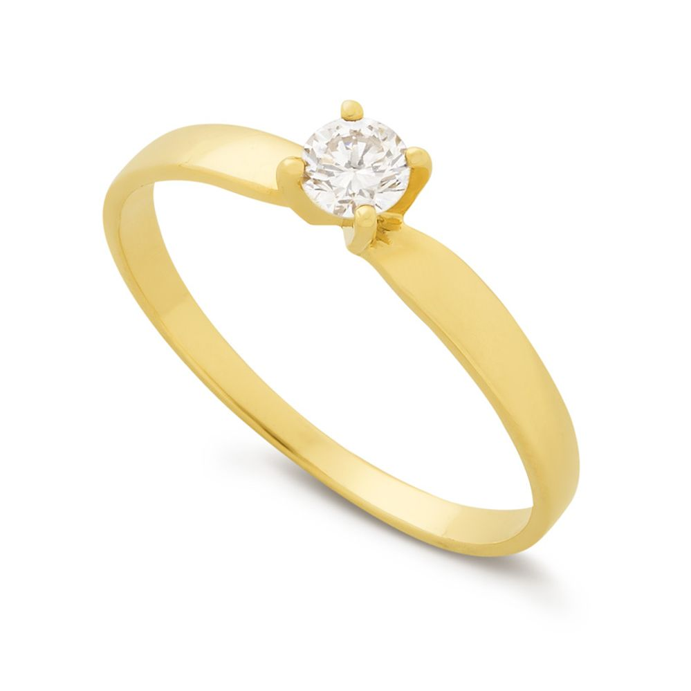 93d5fdc9242b2 Anel em Ouro e Diamante 20 pontos - BIGBEN